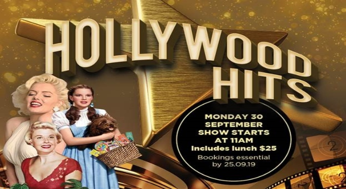 Image showcasing Hollywood Hits event 30th September 2019